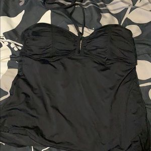Black halter swim top